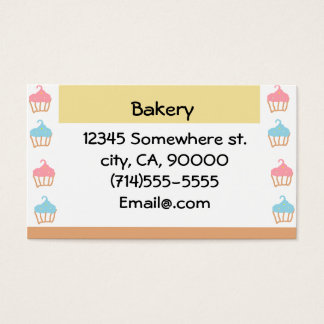 Bäckerei kundengerecht visitenkarte