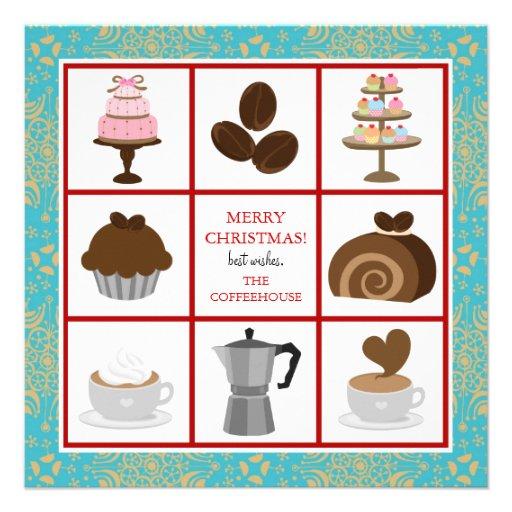 b ckerei oder caf gesch fts weihnachtskarten quadratische. Black Bedroom Furniture Sets. Home Design Ideas