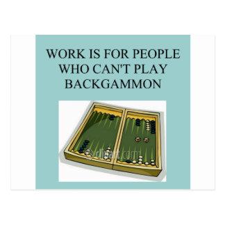 Backgammonspiel Postkarte