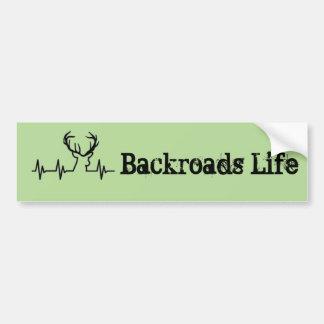 Backroads Leben Autoaufkleber