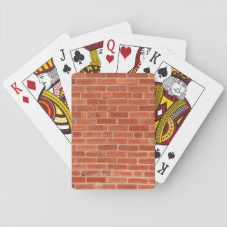 Backstein-Wand-Beschaffenheits-Hintergrund Spielkarten