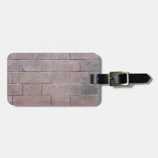 Backsteinmauer Gepäckanhänger