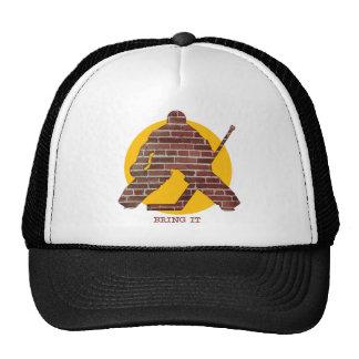 Backsteinmauer-Hockey-Tormann Cap