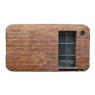 Backsteinmauer mit einem typischen Muster Die Wan iPhone 3 Hülle