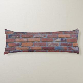 Backsteinmauer - rote Mischziegelsteine und Mörser Seitenschläferkissen