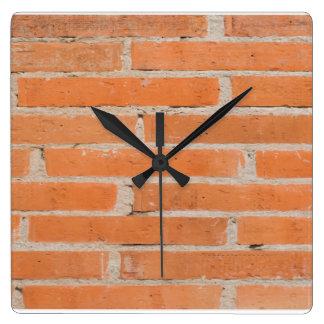 Backsteinmauer-Uhr Quadratische Wanduhr