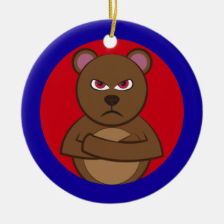 Bad angry bear keramik ornament
