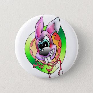 bad bunny bösr hase anstecker sticker runder button 5,1 cm