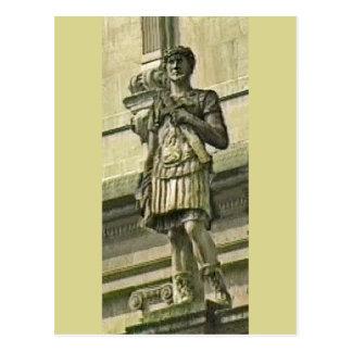 Bad England 1986 römisches Solider Statue1 Postkarte