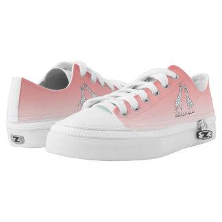Bad-Färbung Giraffen-Schuhe Niedrig-geschnittene Sneaker