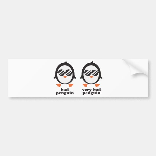 bad penguin - Pinguin Autoaufkleber