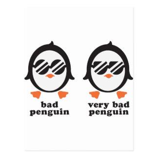 bad penguin - Pinguin Postkarte
