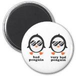 bad penguin - Pinguin Runder Magnet 5,7 Cm