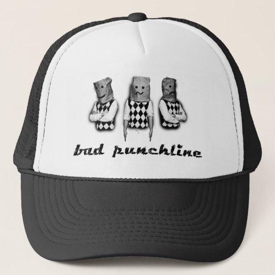bad punchline - cap - black truckerkappe