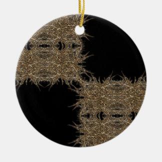 badark gold rundes keramik ornament