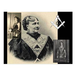 Badass Frau-Maurer Postkarte