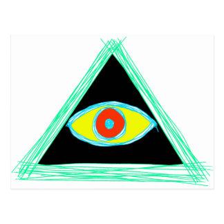 Badass Illuminati Postkarte