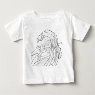 Badass Weihnachtsmann mit einem schlechten Lächeln Baby T-shirt