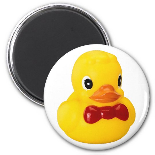 Badeente Quietschente rubber duck Runder Magnet 5,1 Cm