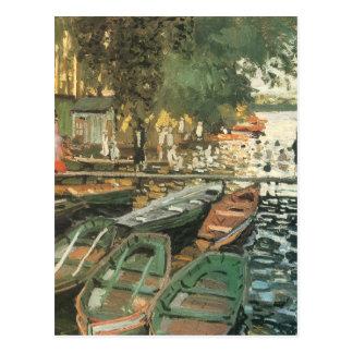Badegäste durch Monet Postkarte
