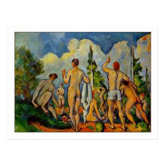 Badegäste durch Paul Cezanne Postkarte