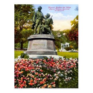 Baden bei Wien, Lanner-Strauss-Denkmal Postkarte