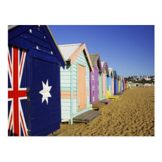 Baden der Kästen, mittlerer Brighton-Strand, Hafen Postkarte