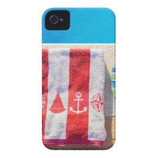 Baden der Pantoffel und des Badtuches am iPhone 4 Case-Mate Hülle