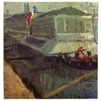 Baden des Floßes auf der Seine bei Asniere durch Stoffserviette