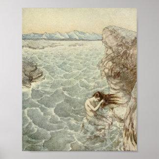 Baden in einer Seebucht Poster