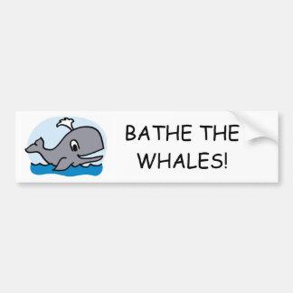 Baden Sie die Wale Autoaufkleber