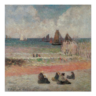Baden von Dieppe durch Paul Gauguin, Vintage feine Poster