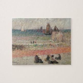 Baden von Dieppe durch Paul Gauguin, Vintage feine Puzzle
