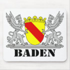 Baden Wappen mit Schrift Baden Mousepad