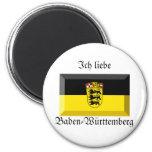 Baden-Württemberg Flaggen-Edelstein Kühlschrankmagnete