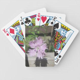Bäderrosa Dianthus auf Zaun Bicycle Spielkarten