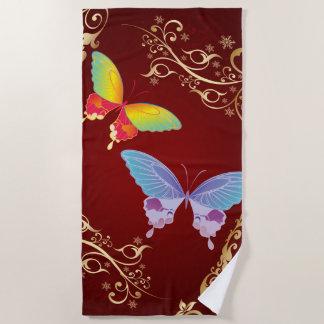 Badetuch der Schmetterlings-Kunst-1
