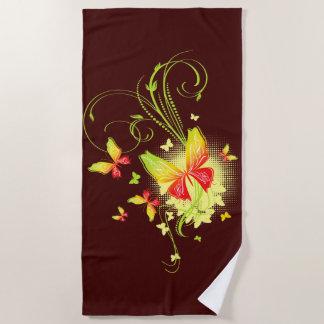 Badetuch der Schmetterlings-Kunst-5A