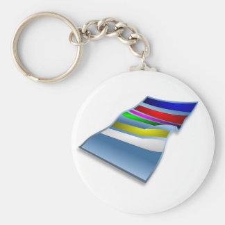 Badetuch Keychain Standard Runder Schlüsselanhänger