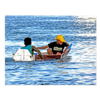 Badewanne auf dem Nil Postkarten