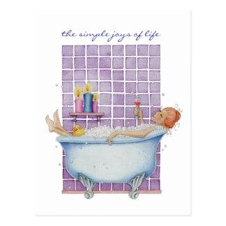 Badewannen-Freude-Postkarte Postkarten