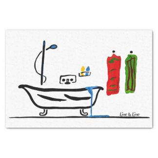 Badezimmer Seidenpapier