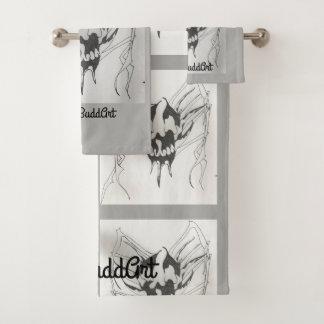 Badezimmer-Tuch-Set, grau Badhandtuch Set
