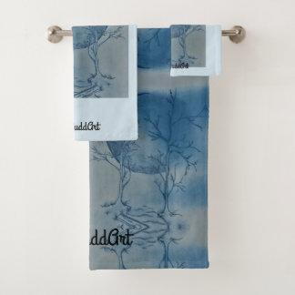 Badezimmer-Tuch-Set, hellblau Badhandtuch Set