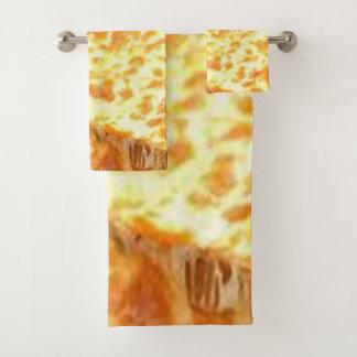 Badezimmer-Tuch-Set-Pizza Badhandtuch Set
