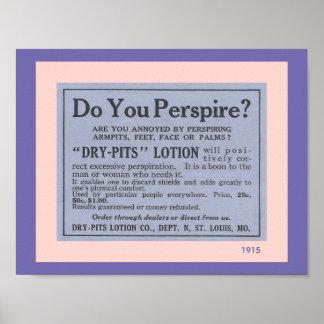 Badezimmer-Zusätze: Spaß-Vintage Mittel-Anzeige Poster