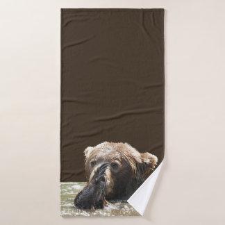 Badezimmertuch-Set mit Grizzlybären und -jungen Badhandtuch Set