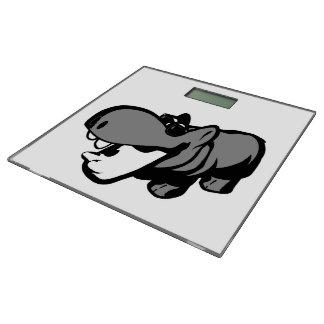 Badezimmerwaage - Flusspferd mit Sonnenbrille -