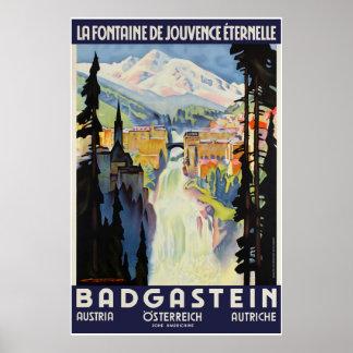 Badgastein, Österreich, Reise-Ski-Plakat Poster