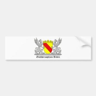 Badischer Greif mi Schrift Großherzogtum Baden Autoaufkleber